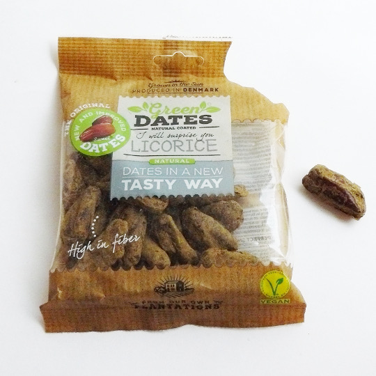 Dates with liquorice powder, 150g-bag