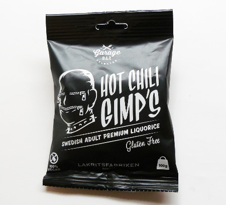 Hot chili Gimp´s, 100g-Tüte