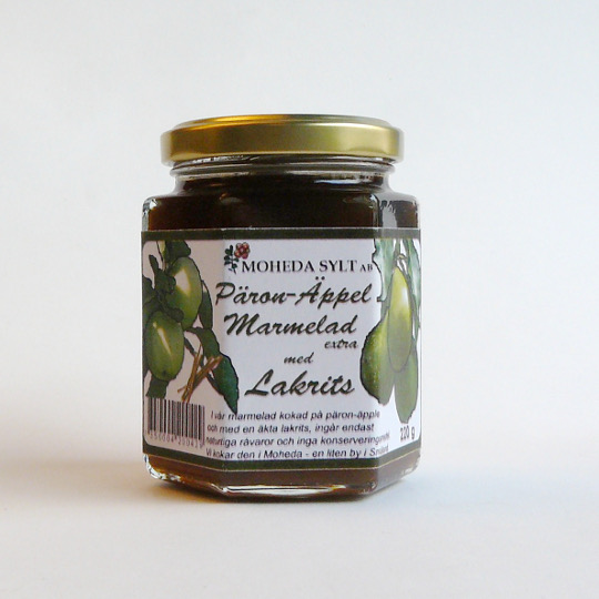 Jam with pear & liquorice, 200g-jar