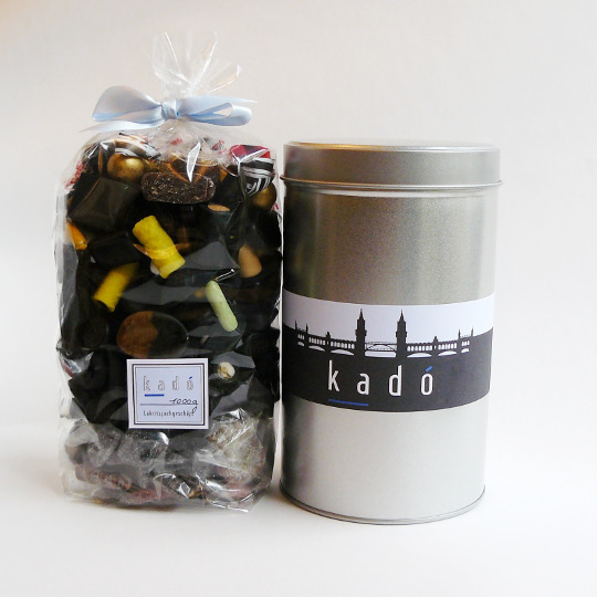 "Present tin ""Berlin"" with 1000g liquorice mix"