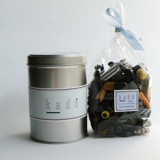 "Present tin ""kadó"" with 500g liquorice"
